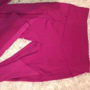 Full length pink lulu lemon leggings